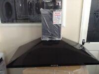 100cm black cooker hood. RRP £169. 12 month Gtee.