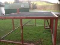 CHICKEN RUN, HEN RUN CHICKEN COUP Hen run/chicken coup as per pictures. Measures 8' x 8'6' x 4'