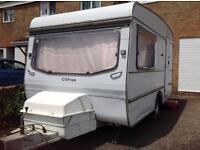 Clifton tow away caravan. Perfect summer holiday getaway. Retro shabby chic interior