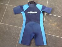 Child's Dudeskin Shortie Wetsuit (8/10 Yrs)