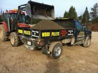 Black mulch Wood pellets Hemlock