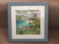 Katie Childs Small print framed of Port Issac