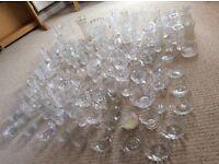 Wedding Reception Table Glassware Flowers