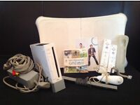 Wii and wii fit with 16 games