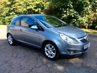 2009 59 Vauxhall Corsa 1.2i SXi, 3 drs, 1 Year MOT, Full Service History, Only Done 44,000 Miles
