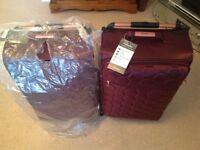 House of Fraser Plum Suitcases Brand New Unused with Tags