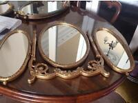 Vintage triple dressing table mirror, excellent condition.