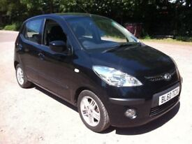 2011 **60 REG** HYUNDAI I10 1.2 BLACK 5-DOOR**FULL 12MONTHS MOT** £20 per year tax**
