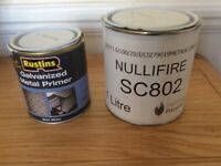 Fire-resistant paint and primer