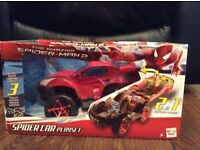 Spiderman2 car and playset
