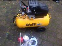 Wolf Sioux 50 air compressor.