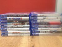 games for PlayStation 4 , in perfect working condition