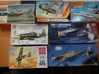 Unbuilt 1/72 model aircraft kits for sale