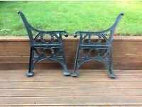 Genuine Cast Iron Garden Bench Ends