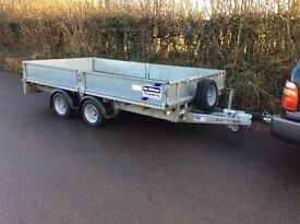 Ifor williams 12 feet drop side trailer mint condion 4 months old
