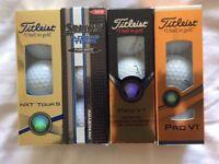 12 New Golf Balls - Titleist Pro V1, Srixon AD333 Tour & Titleist NXT Tour S