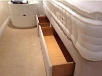 """Recently delivered unused 5'0"""" King Size Hypnos Divan Bed and Mattress 2+2 Continental Drawers"""