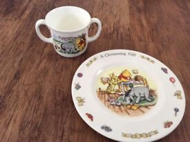 Winnie the Pooh plate and cup royal doulton