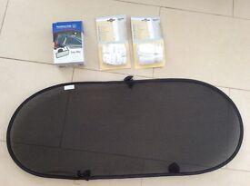 Car sunshade, mirror and furniture straps