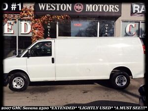 2007 GMC Savana 2500 *EXTENDED *LIGHTLY USED *A MUST SEE!!!