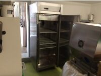 Frost free stainless Steel catering freezer