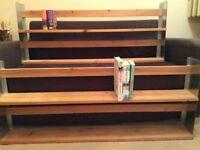 Two Ikea wall mounted shelves 113 cm X 48 cm
