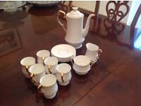 Bone china coffee services by Ashley of Bath