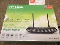 TP link cable router. For Virgin. Dual band 2.4ghz and 5ghz archer c2