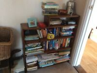 Small dark wood bookcase.