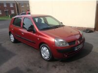 Renault Clio expression 1.1 new mot & recent full service
