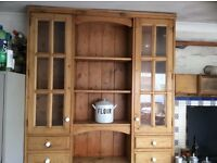 Two handmade kitchen units
