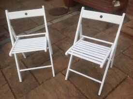 2 Handy Wooden Folding Chairs