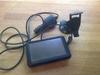 Garmin sat nav with charger and stand, excellent condition