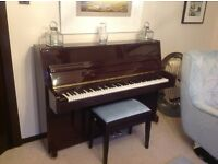 Steinbach Upright Piano and Stool For Sale.
