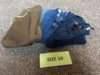 3 PAIRS OF SIZE 10 JEANS