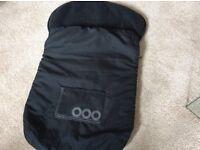 Bruin fleecy car seat/buggy zipped cosy toes
