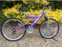 Bike, hardly used, dual suspension