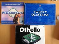 3 Family Games - Othello, 20 Questions and Countdown