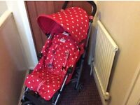 Maclaren cath kidston pushchair with footmuff and rain cover