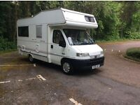 Peugeot boxer Autohomes way finder 4/5 berth motorhome with only 44000 miles 1.9 turbo diesel