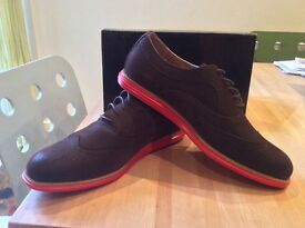 Suede Brogues with red trainer soles - Size 11 - brand new