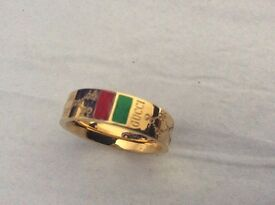 Detector Find Fashion Designer Ring. Gold plated