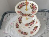 Colclough Bone China 3 Tier Cake Stand. Wayside.