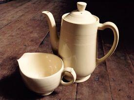 Vintage Jasmine Woods Ware Coffee Pot and Milk Jug