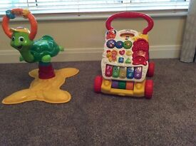 Vetch bounce and fun time turtle and vetch first steps baby walker with detachable learning centre