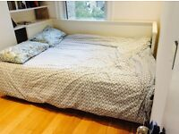 Ikea HEMNES day-bed with three drawers and two mattresses