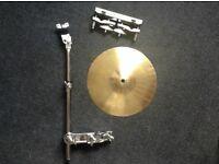 "10"" splash cymbal, arm & clamp & multi clamp"
