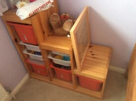 Large Storage Pod for children's bedroom/nursery/playroom (Ikea listed as 'Trofast')
