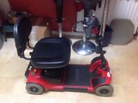 PRIDE GO GO MOBILITY SCOOTER IN EXCELENT USED CONDITION WITH NEW BATTERIES FITTED