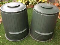 Two Large Plastic Compost bins £5 each or both for £8